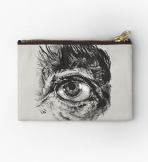 Hairy eyeball is watching you - warm grau Studio Clutch