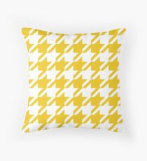 Sun Flower Houndstooth Pattern Throw Pillow