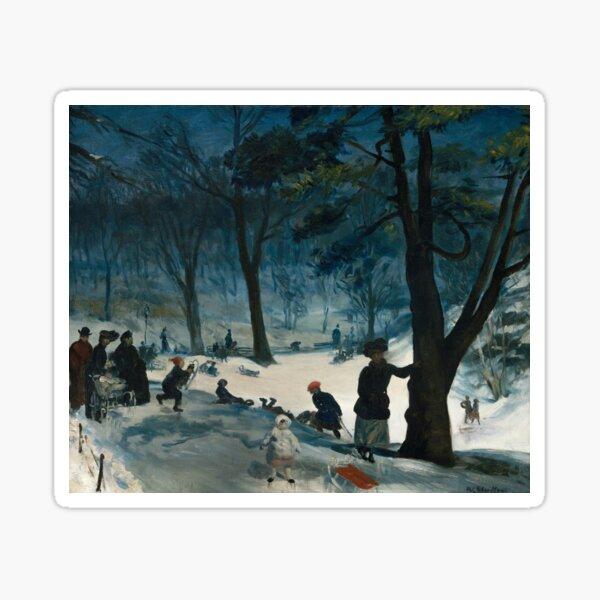Central Park, Winter, 1905 Sticker