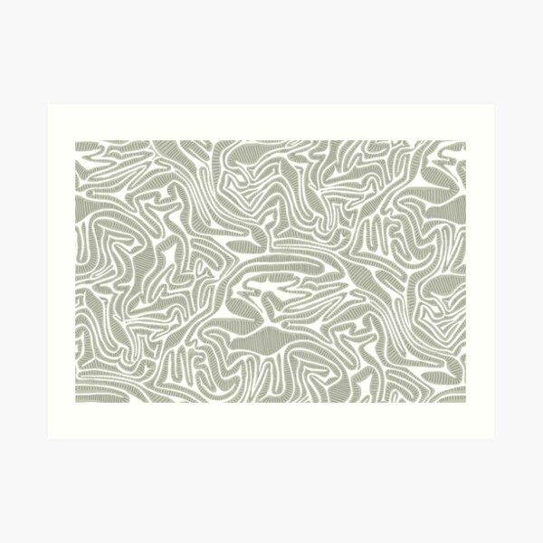Neutral Cabbage Labyrinth Art Print