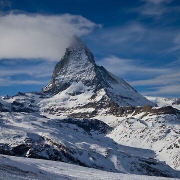 The Matterhorn from Zermatt by pluffy