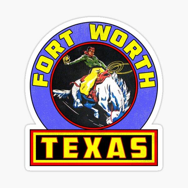 Fort Worth Texas Rodeo Vintage Travel Bumper Camper Sticker