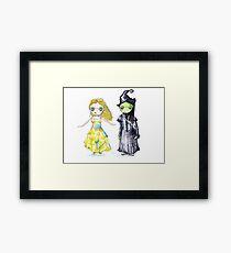 Wicked the Musical Illustration Design Framed Print