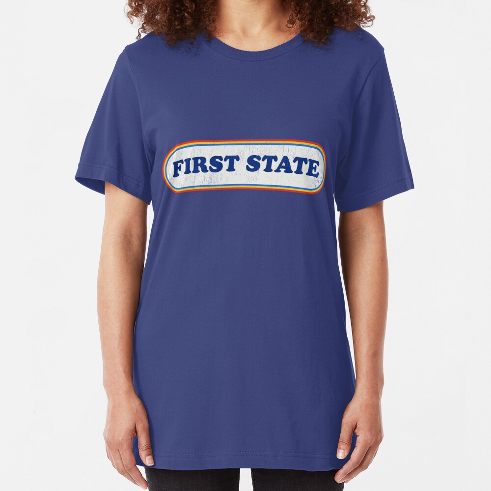 First State | Retro Badge Slim Fit T-Shirt