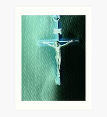 Two Worlds Light and Darkness and I am the LIGHT Jesus! Art Print