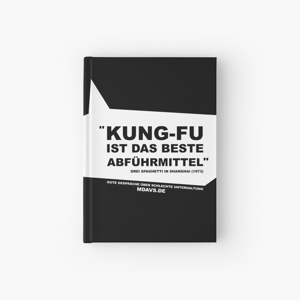 Zitat Deutsch Drei Spaghetti in Shanghai Notizbuch