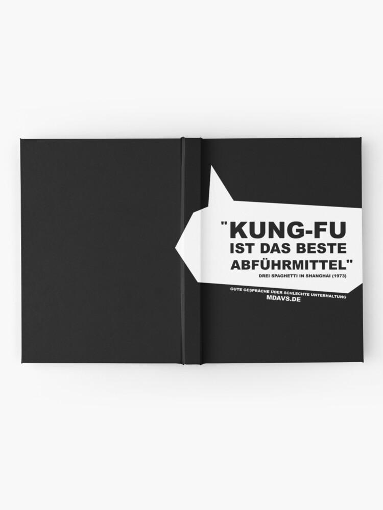 Alternative Ansicht von Zitat Deutsch Drei Spaghetti in Shanghai Notizbuch
