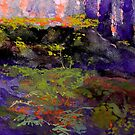 Landscape in Purple and Orange by Sue Wellington