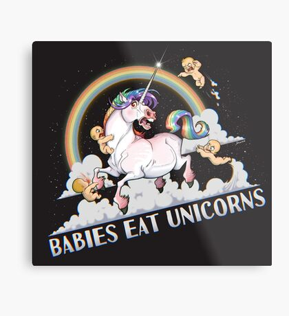 Babies eat Unicorns Metal Print