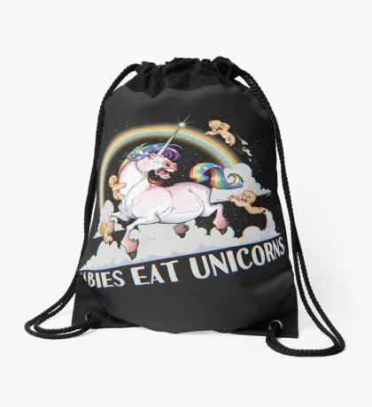 Babies eat Unicorns Drawstring Bag