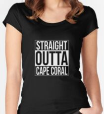 Straight Outta Cape Coral Women's Fitted Scoop T-Shirt