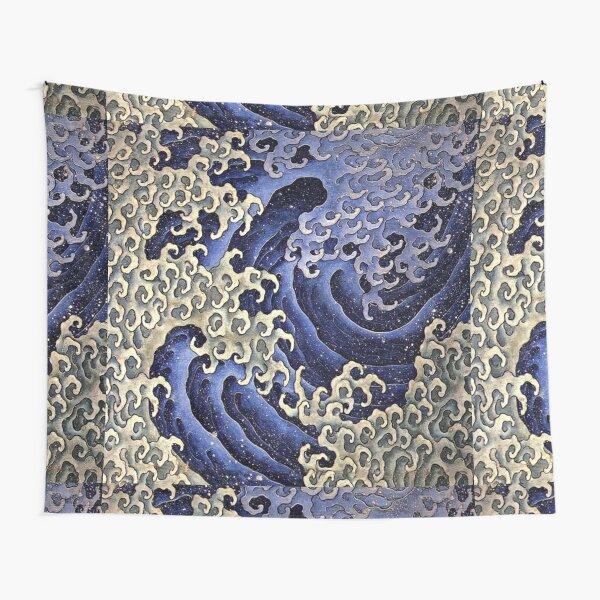 HOKUSAI. Masculine wave. Tapestry