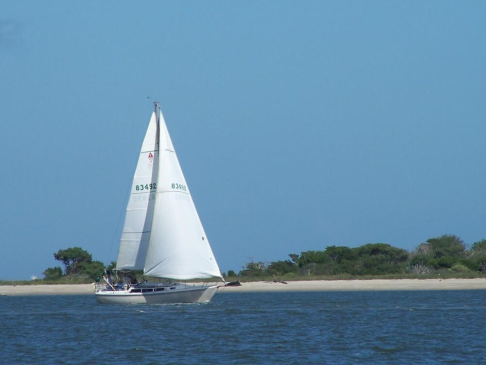 Sailing at Oak Island NC by MeMeBev
