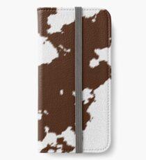 Realistic Brown Cow Hide Pattern iPhone Wallet/Case/Skin
