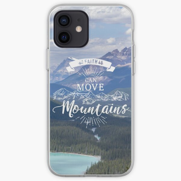 Faith can move mountains iPhone Soft Case