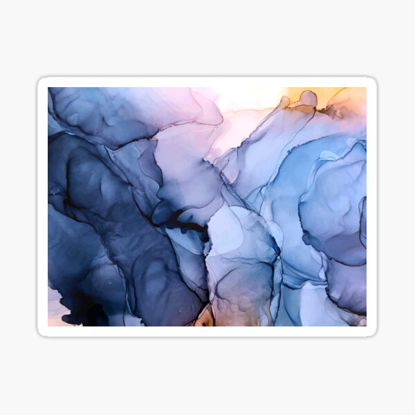 Captivating 1 - Alcohol Ink Painting Sticker
