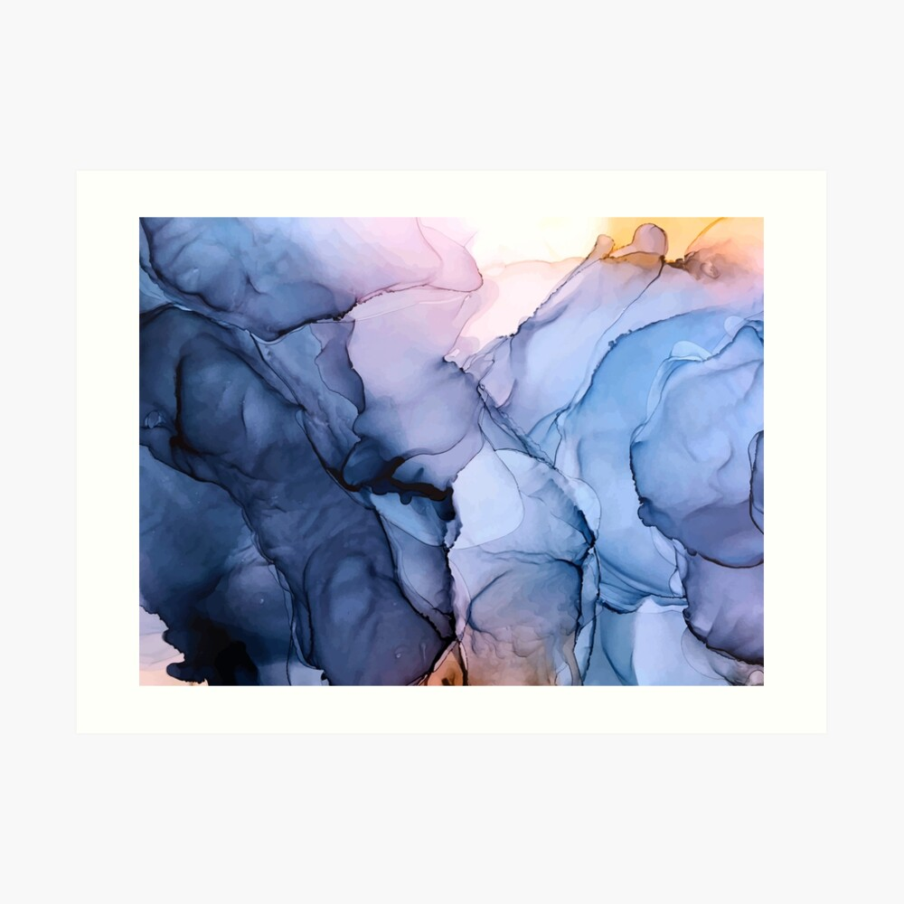 Captivating 1 - Alcohol Ink Painting Art Print