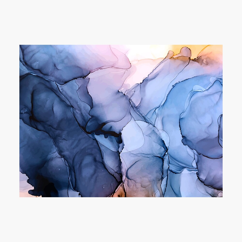 Captivating 1 - Alcohol Ink Painting Photographic Print