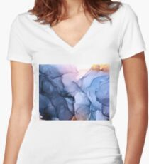 Captivating 1 - Alcohol Ink Painting Women's Fitted V-Neck T-Shirt