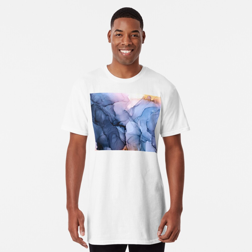 Captivating 1 - Alcohol Ink Painting Long T-Shirt