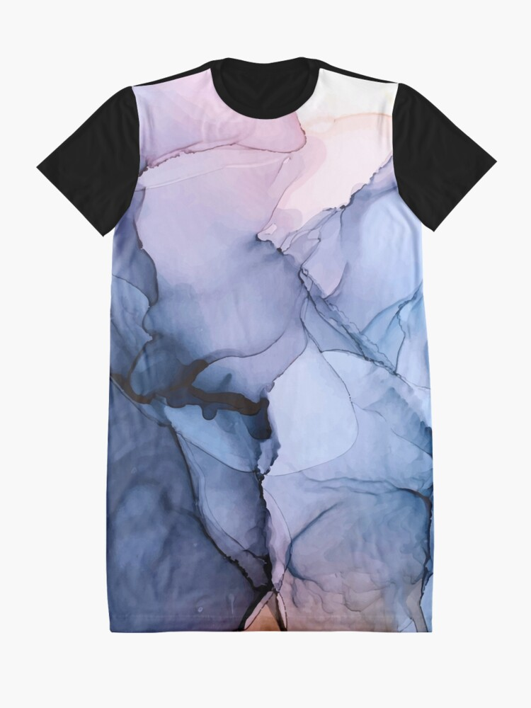 Alternate view of Captivating 1 - Alcohol Ink Painting Graphic T-Shirt Dress