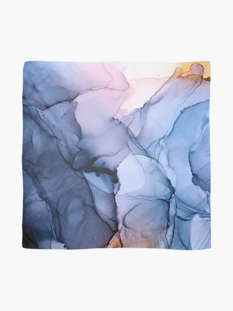 Alternate view of Captivating 1 - Alcohol Ink Painting Scarf
