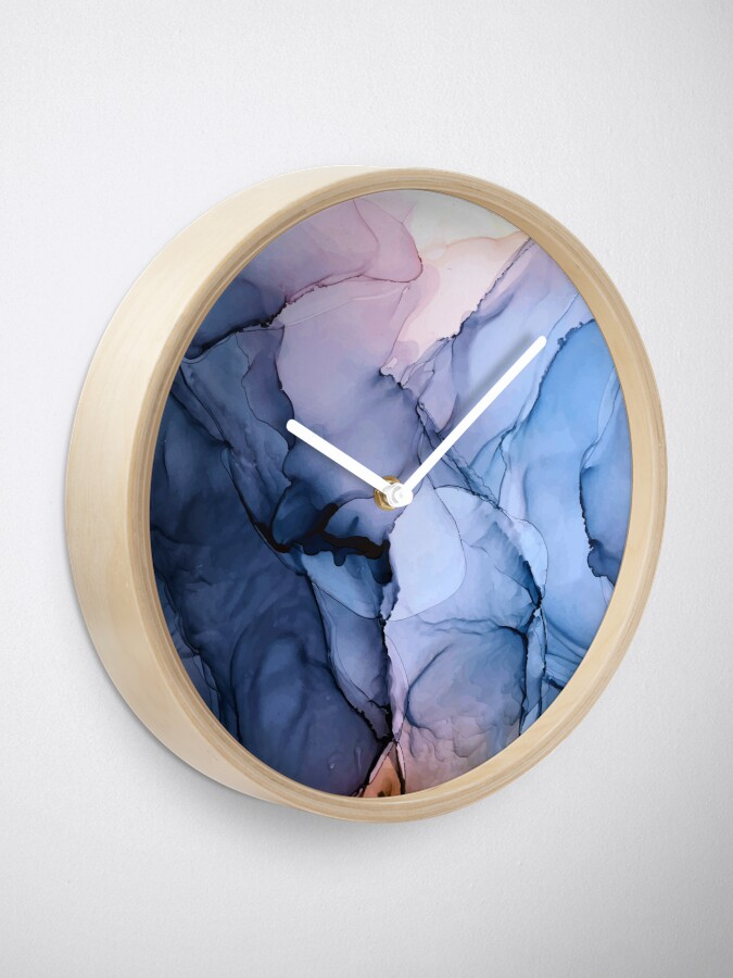 Alternate view of Captivating 1 - Alcohol Ink Painting Clock