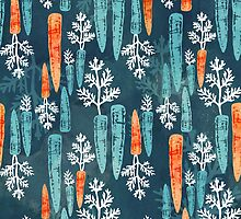 Watercolor carrot repeat by adenaJ