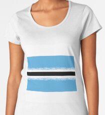 Republic of Botswana Flag Isolated on White Background Women's Premium T-Shirt