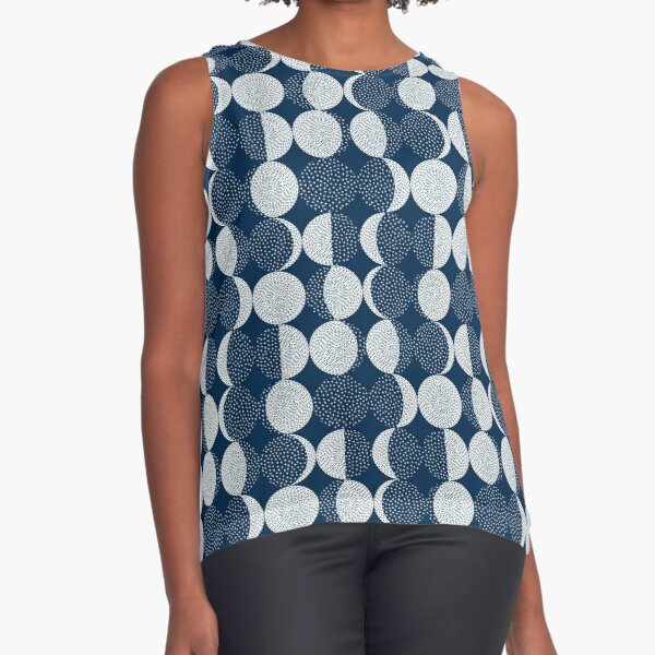 Moon Phases / repeat pattern Sleeveless Top