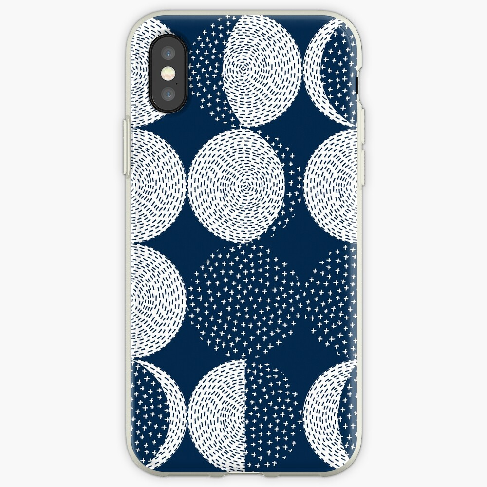 Moon Phases / repeat pattern iPhone Case & Cover