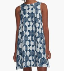 Moon Phases / repeat pattern A-Line Dress