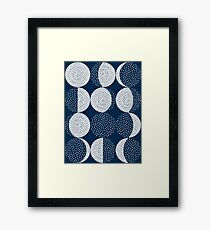 Moon Phases / repeat pattern Framed Print