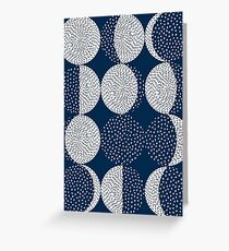 Moon Phases / repeat pattern Greeting Card