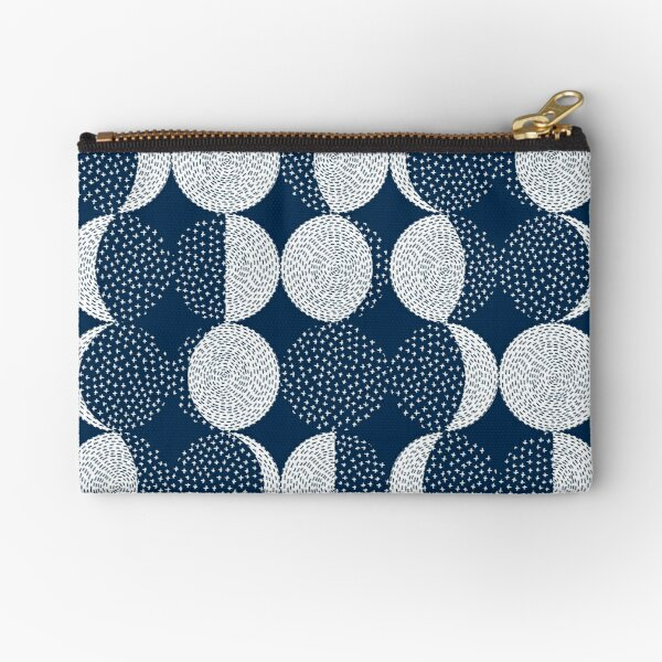 Moon Phases / repeat pattern Zipper Pouch
