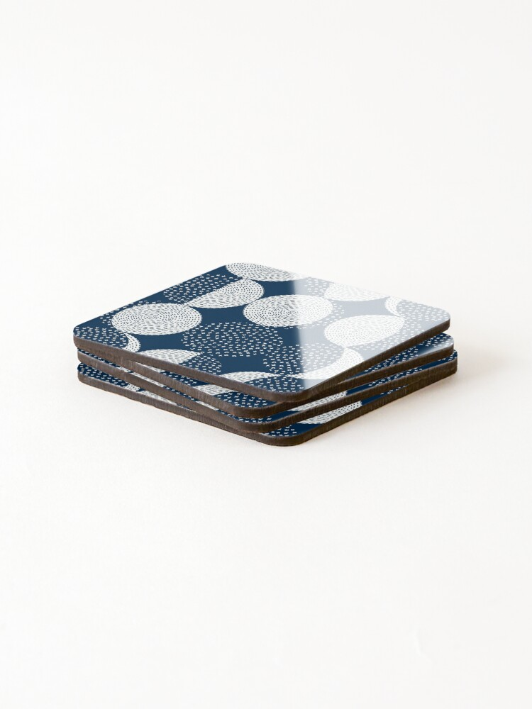 Alternate view of Moon Phases / repeat pattern Coasters (Set of 4)