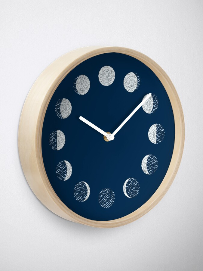 Alternate view of Moon Phases / repeat pattern Clock