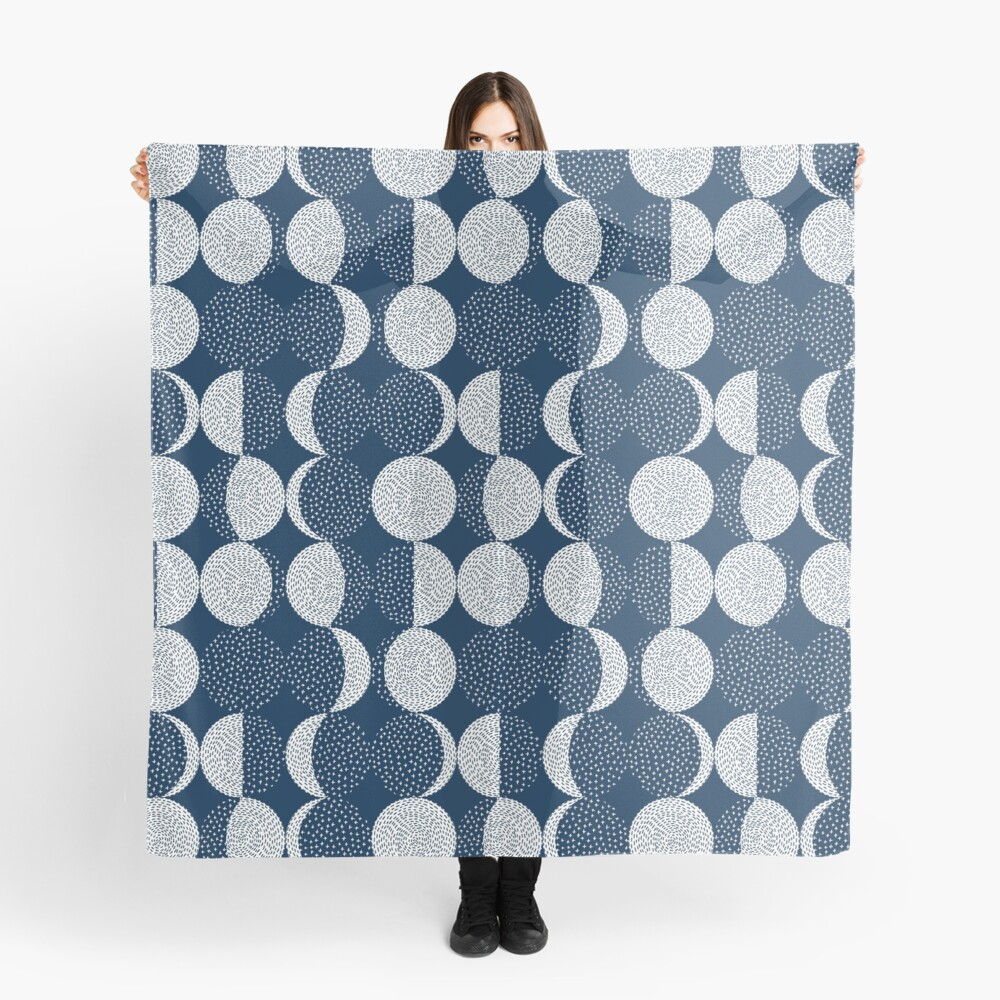 Moon Phases / repeat pattern Scarf