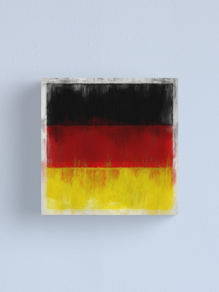 Alternate view of German Flag No. 2, Series 2 Canvas Print