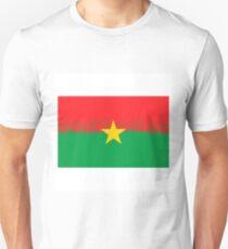National Burkina Faso Grunge Flag Isolated on White Background T-Shirt