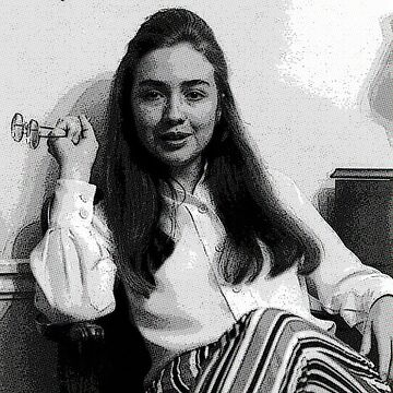 Young Hillary Clinton by starkle