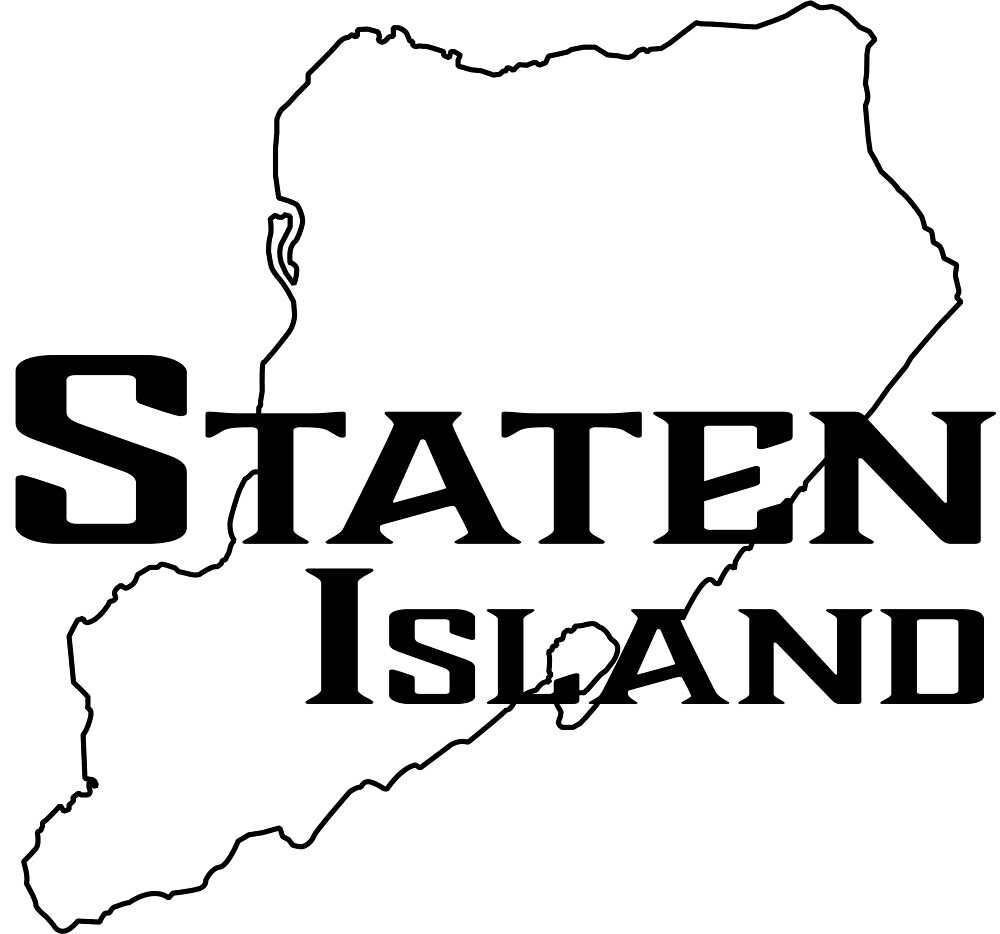 Staten Island Outline Graphic by mbkruth