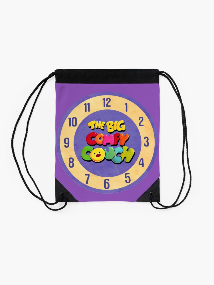 Alternate view of The Big Comfy Couch Clock Drawstring Bag