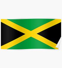 Flag of Jamaica, JAMAICA, JAMAICAN, Jamaican Flag, Caribbean, Island, Pure & Simple Poster