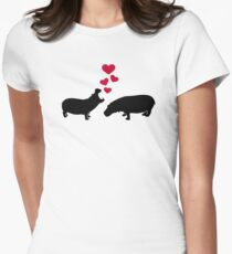Hippo red hearts love T-Shirt