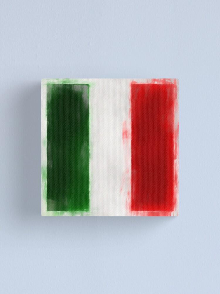 Alternate view of Italian Flag No. 2, Series 1 Canvas Print