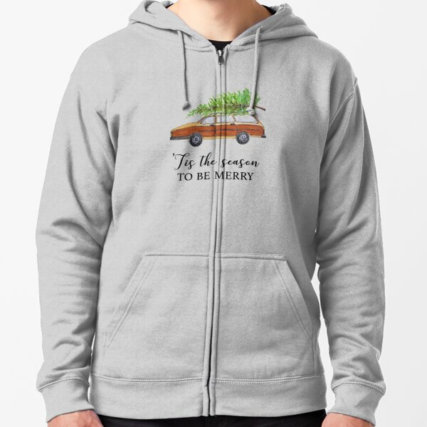 Christmas vacation, tis the season to be merry Zipped Hoodie