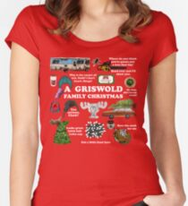 Christmas Vacation Collage Women's Fitted Scoop T-Shirt