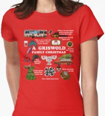 Christmas Vacation Collage Women's Fitted T-Shirt