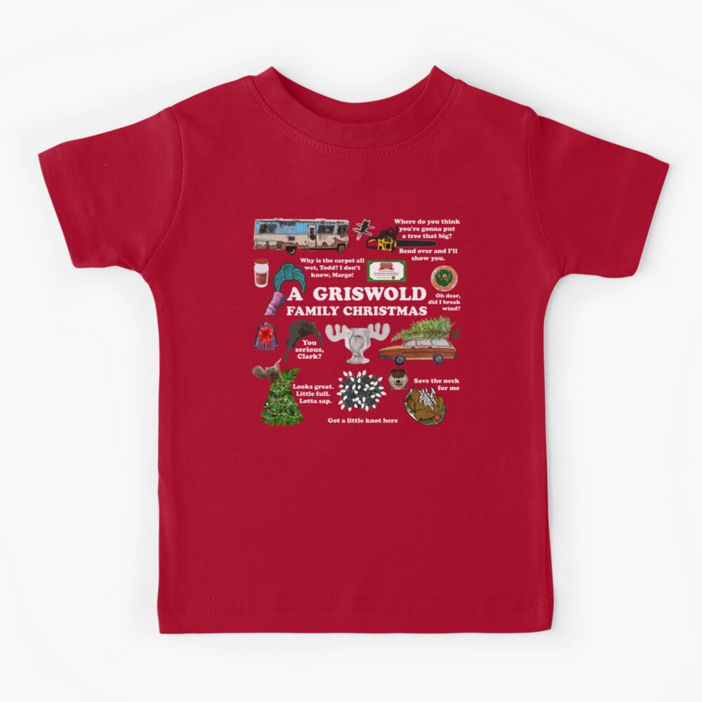 Christmas Vacation Collage Kids T-Shirt